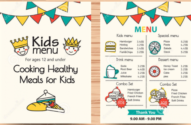 I hope there will be a kids' menu!
